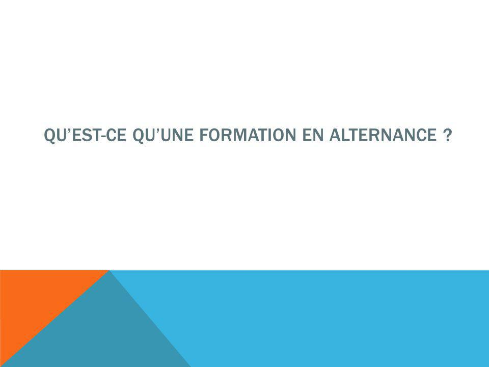 QUEST-CE QUUNE FORMATION EN ALTERNANCE ?