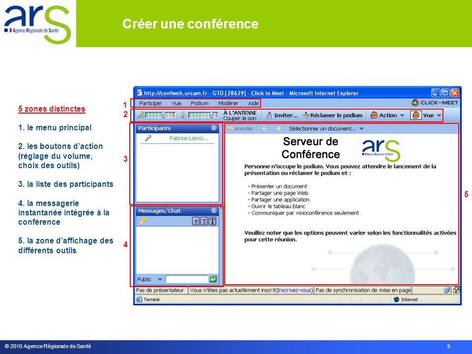 © 2010 Agence Régionale de Santé 5 1 3 5 2 4 5 zones distinctes 1.