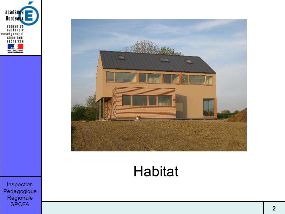 Inspection Pédagogique Régionale SPCFA 22 Habitat