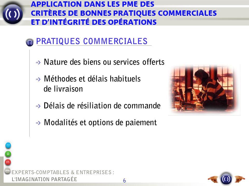 17 ÉTUDE COMPARATIVE DES SCEAUX OPÉRATIONNELS SUR LE MARCHÉ *critères définis par le Commerce International Task Force** Chambres de commerce françaises