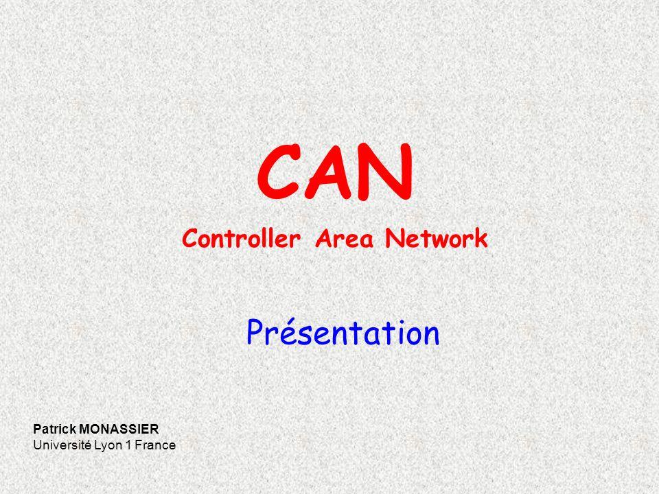 2 Historique du réseau CAN 1983Début des développements de CAN chez Robert Bosch Gmbh 1985Spécification V1.0.