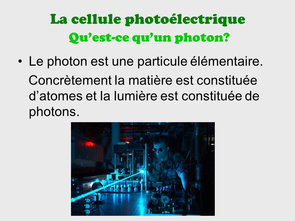 La cellule photoélectrique Quest-ce quun photon.Le photon est une particule élémentaire.