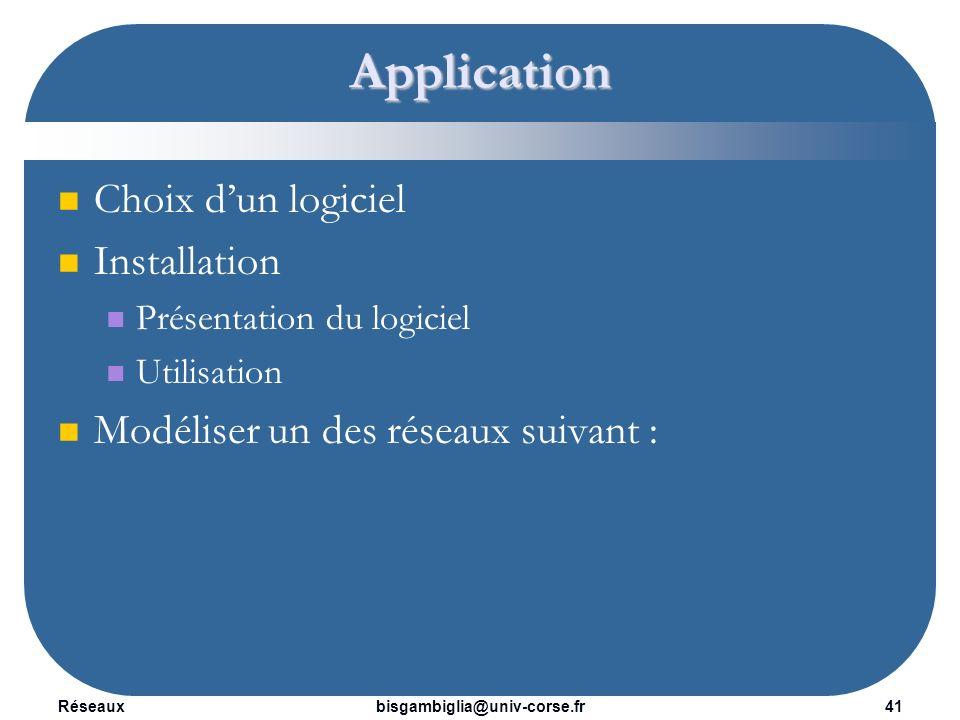 Réseaux42bisgambiglia@univ-corse.fr Application