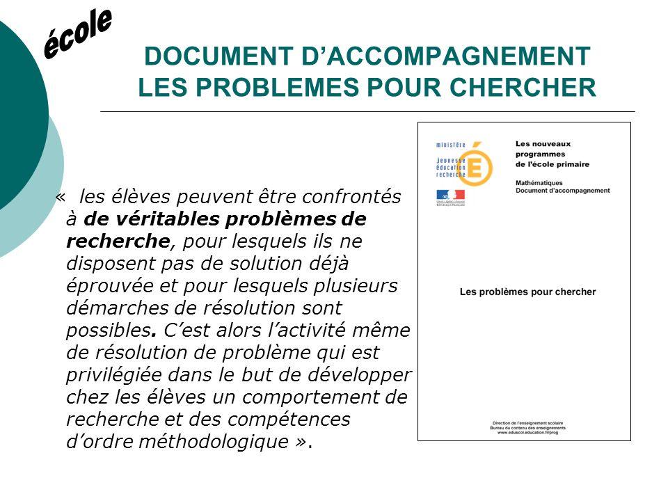DOCUMENT DACCOMPAGNEMENT RESOLUTION DE PROBLEMES ET APPRENTISSAGE VERS LES SOLUTIONS EXPERTES « le terme solution est utilisé dans un sens peut-être un peu inhabituel.