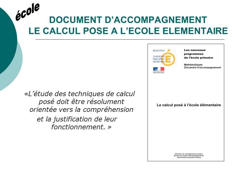 DOCUMENT DACCOMPAGNEMENT LE CALCUL MENTAL « Une pratique régulière du calcul mental permet de familiariser les élèves avec les nombres et dapprocher certaines propriétés des opérations».