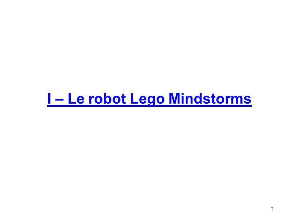 7 I – Le robot Lego Mindstorms