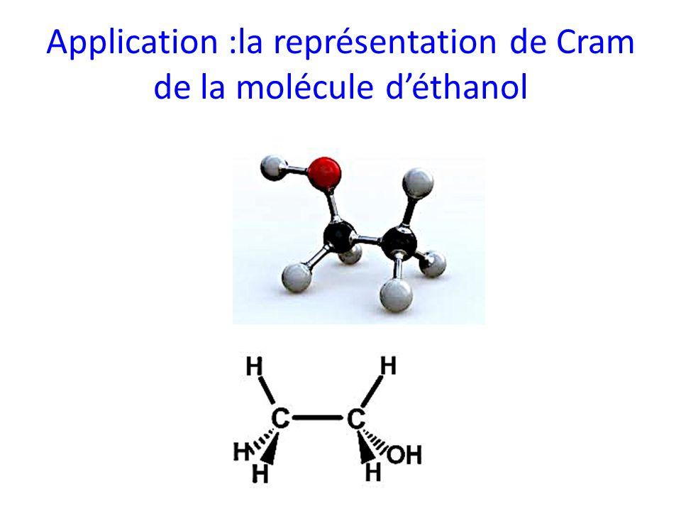 Application :la représentation de Cram de la molécule déthanol
