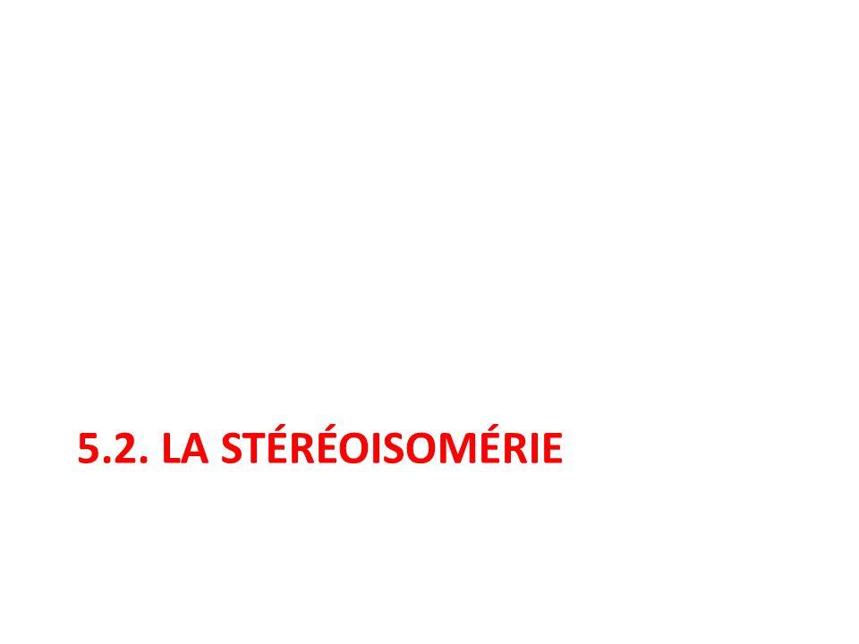5.2. LA STÉRÉOISOMÉRIE