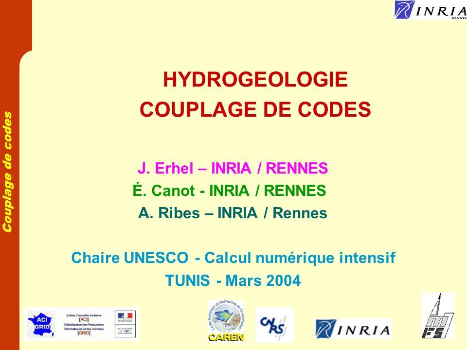 Couplage de codes Plan Introduction Modèles de programmation sur une grille de calcul Application en hydrogéologie Conclusion