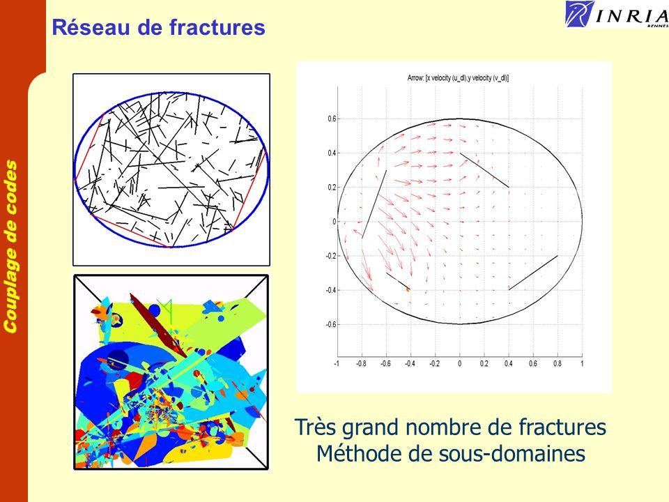 Couplage de codes Réseau de fractures Très grand nombre de fractures Méthode de sous-domaines