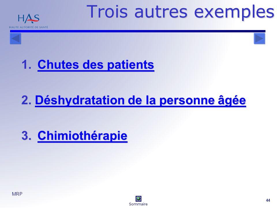 MRP 44 Trois autres exemples 1.Chutes des patients Chutes des patientsChutes des patients 2.