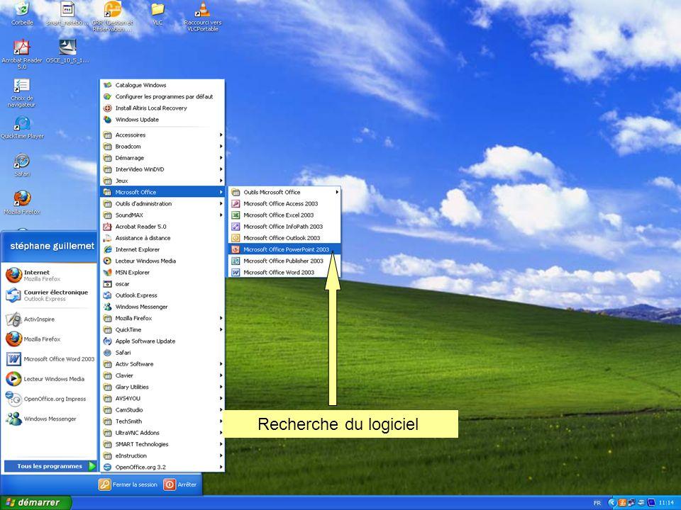 Quelques bases sur les diaporamas Avec lapplication PowerPoint ISSUE DE LA SUITE Microsoft OFFICE 2003 Premiers pas...