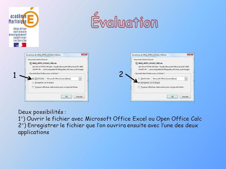 Deux possibilités : 1°) Ouvrir le fichier avec Microsoft Office Excel ou Open Office Calc 2°) Enregistrer le fichier que lon ouvrira ensuite avec lune des deux applications 1 2