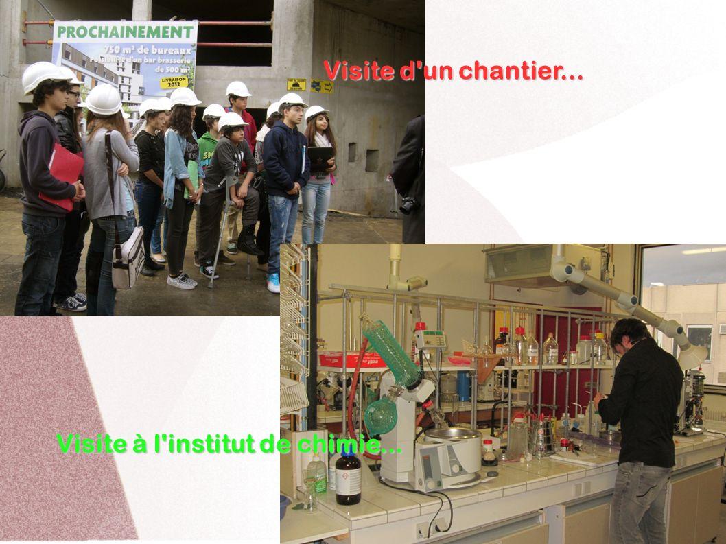Visite d'un chantier... Visite à l'institut de chimie...