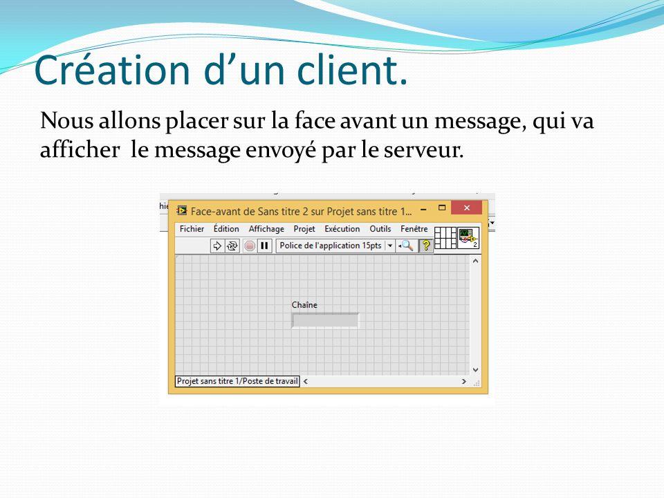 Création dun client.
