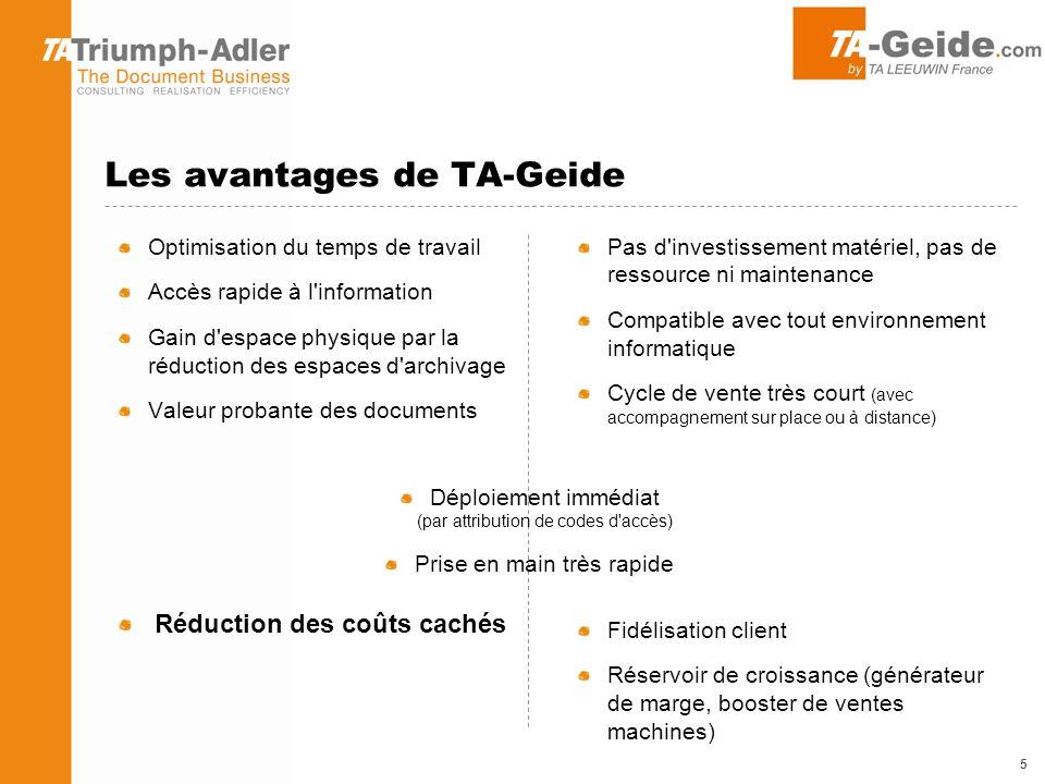 La gamme TA-Geide TA-GEIDE Edition Standard 5 utilisateurs / 5Go Pour QUI .