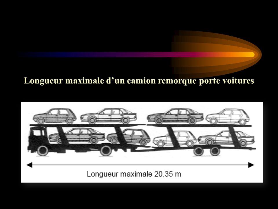 Longueur maximale dun camion remorque porte voitures
