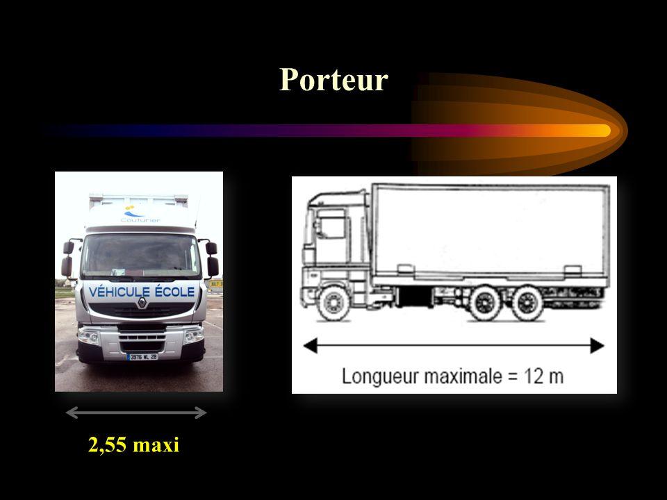 Porteur 2,55 maxi