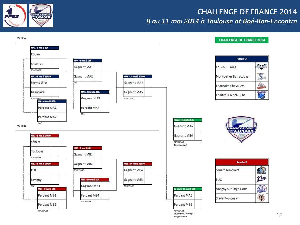 CHALLENGE DE FRANCE 2014 8 au 11 mai 2014 à Toulouse et Boé-Bon-Encontre 20