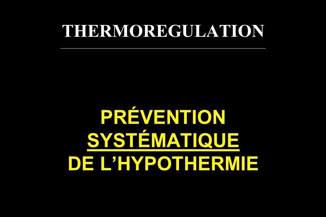 THERMOREGULATION PRÉVENTION SYSTÉMATIQUE DE LHYPOTHERMIE