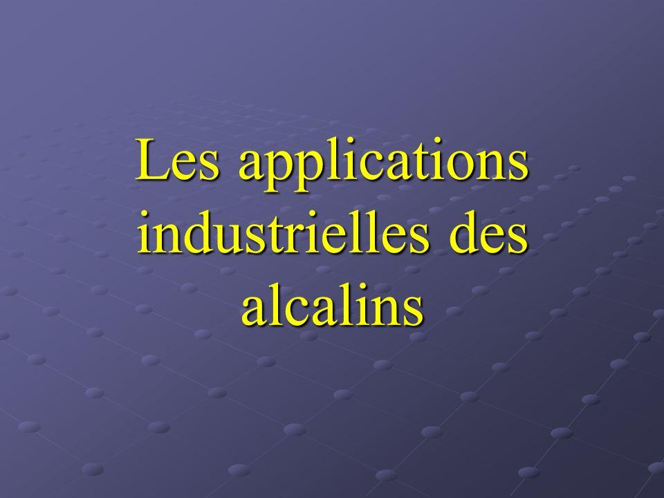 SOMMAIRE Présentation des alcalins LithiumSodium Laccumulateur au lithium Laccumulateur au lithium Lhorloge atomique Lhorloge atomique Autres applications