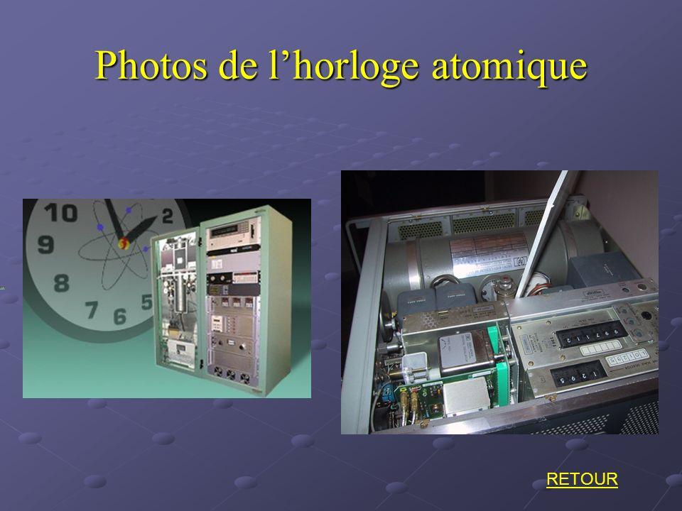 Photos de lhorloge atomique RETOUR