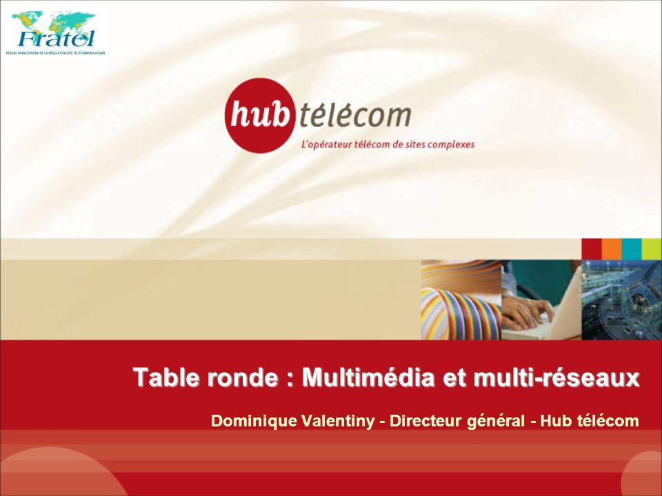Table ronde : Multimédia et multi-réseaux Dominique Valentiny - Directeur général - Hub télécom