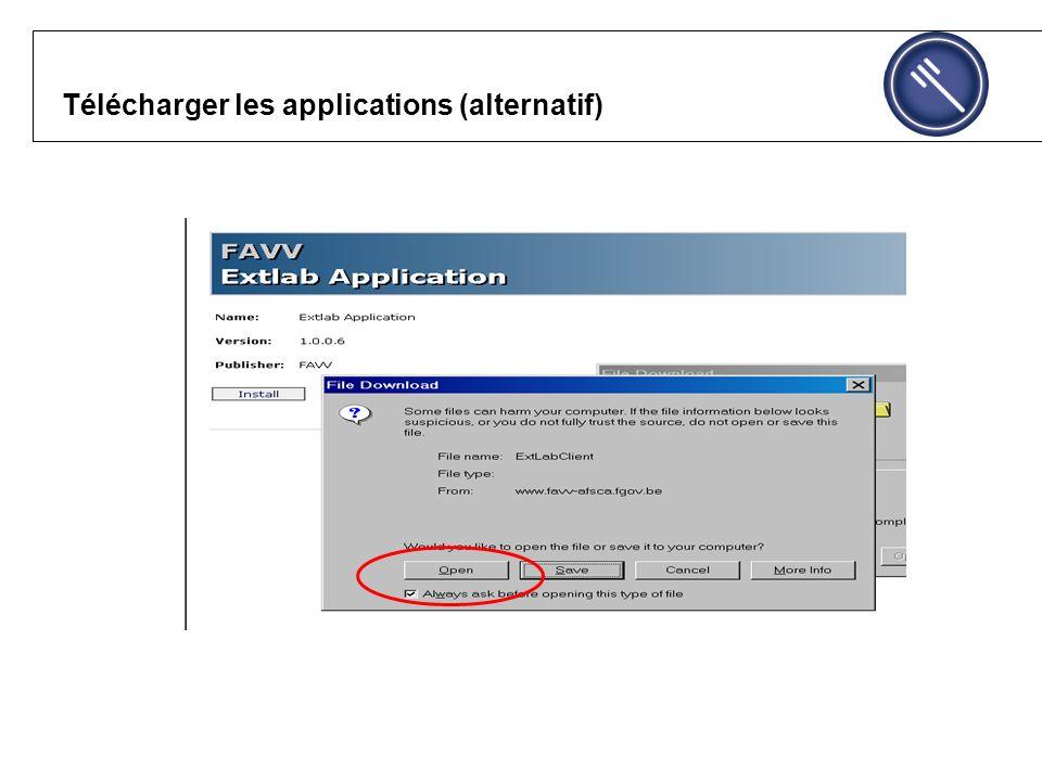 Télécharger les applications (alternatif)