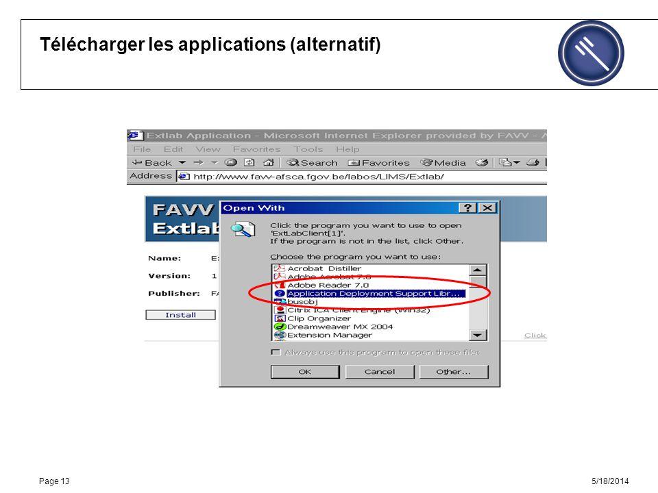 5/18/2014Page 13 Télécharger les applications (alternatif)