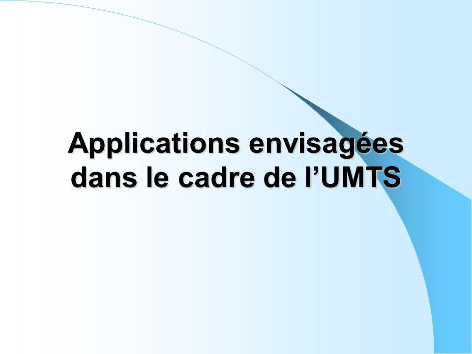 Applications envisagées dans le cadre de lUMTS
