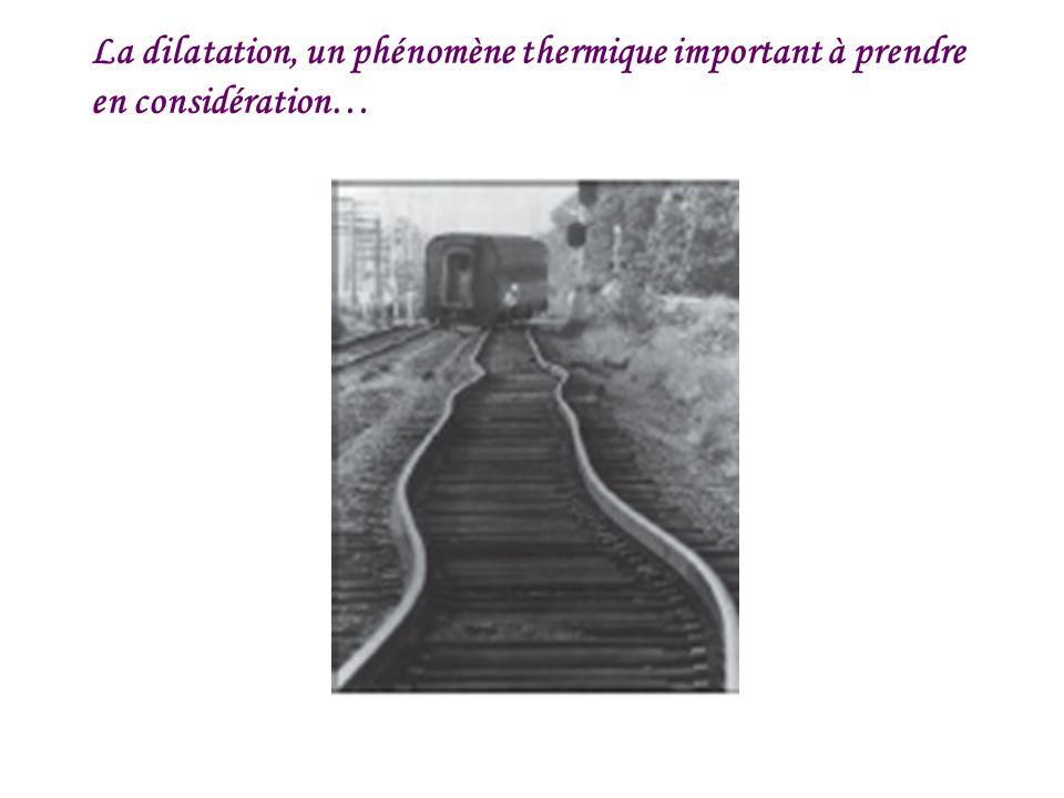 La dilatation, un phénomène thermique important à prendre en considération…