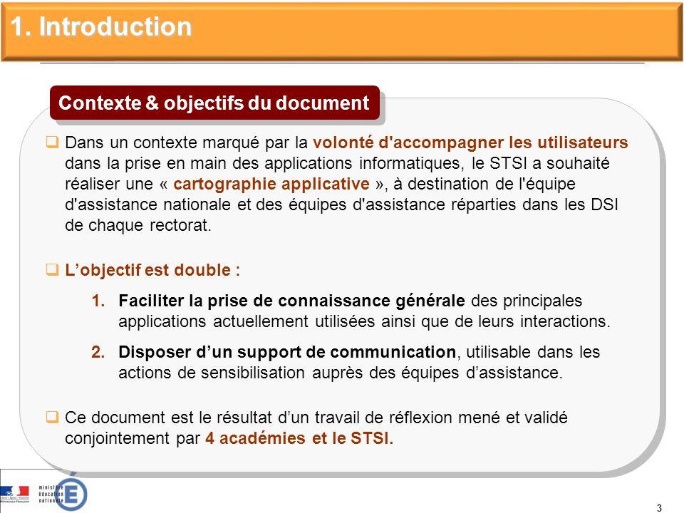 3 1. Introduction Dans un contexte marqué par la volonté d'accompagner les utilisateurs dans la prise en main des applications informatiques, le STSI