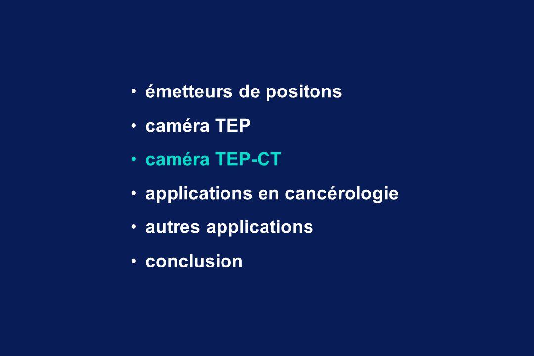 émetteurs de positons caméra TEP caméra TEP-CT applications en cancérologie autres applications conclusion