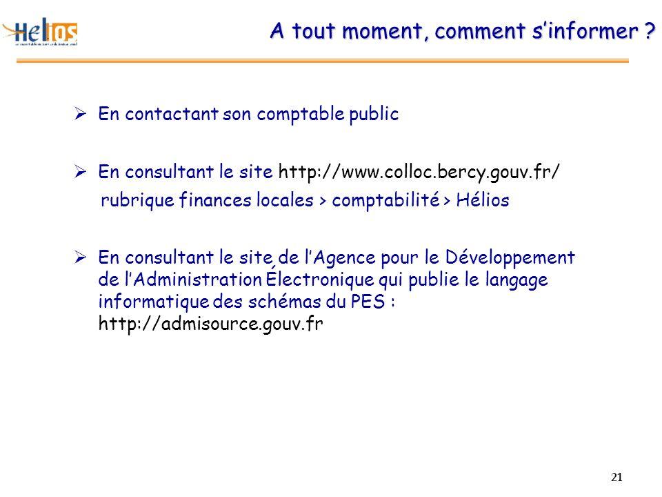 21 A tout moment, comment sinformer ? En contactant son comptable public En consultant le site http://www.colloc.bercy.gouv.fr/ rubrique finances loca
