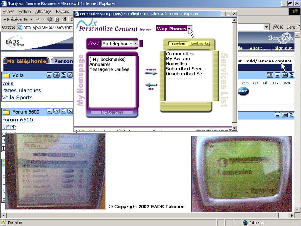 10 Agenda Les enjeux applicatifs de la convergence Les nouveaux services utilisateurs Les technologies du web au service des télécom La stratégie produit EADS Telecom Etape 1 : Offre produit 2003