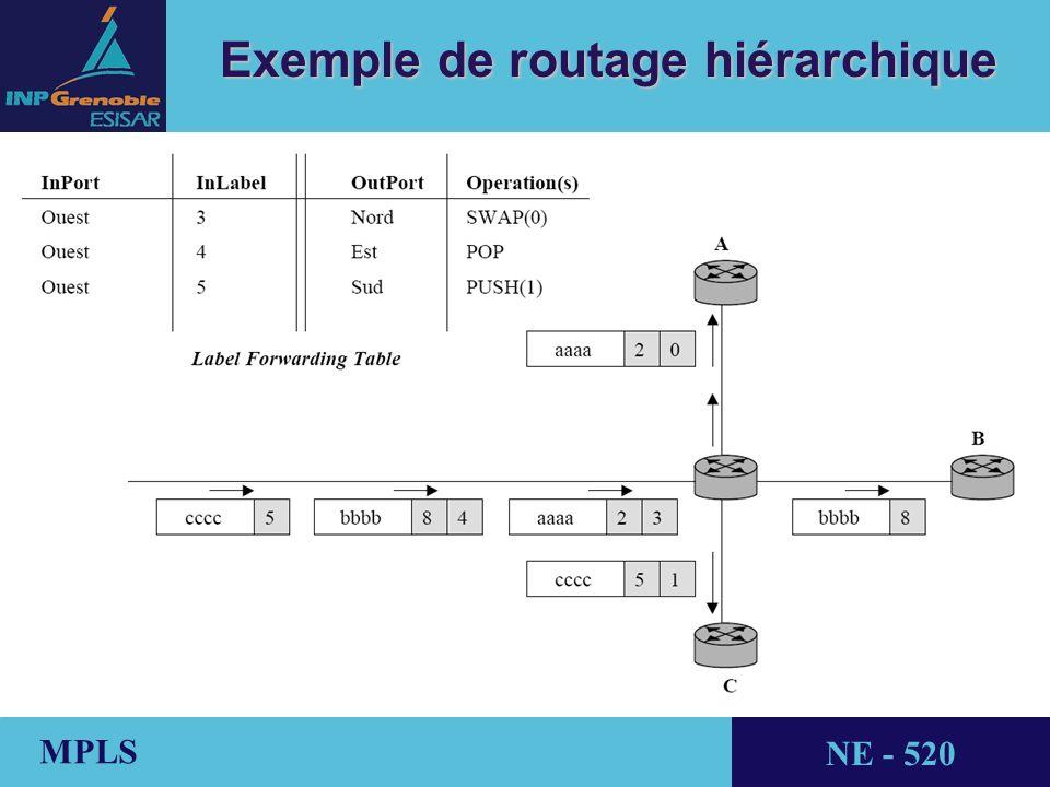 THALES AVIONICS MPLS NE - 520 Exemple de routage hiérarchique