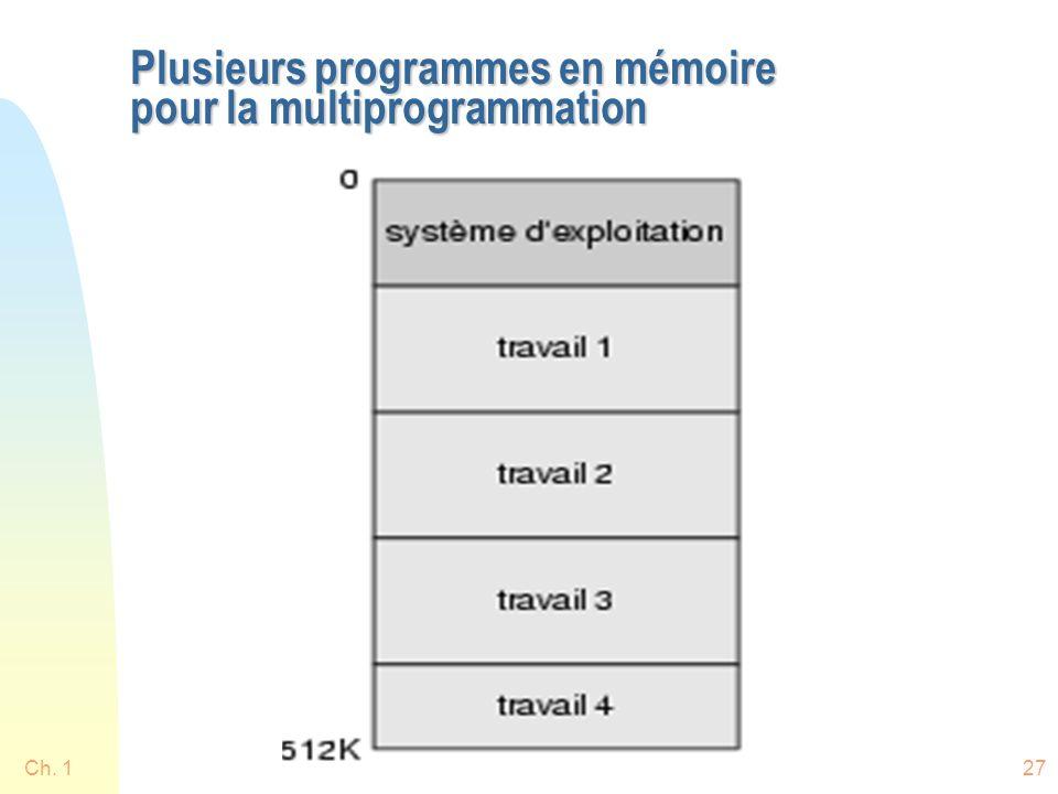 Ch. 127 Plusieurs programmes en mémoire pour la multiprogrammation