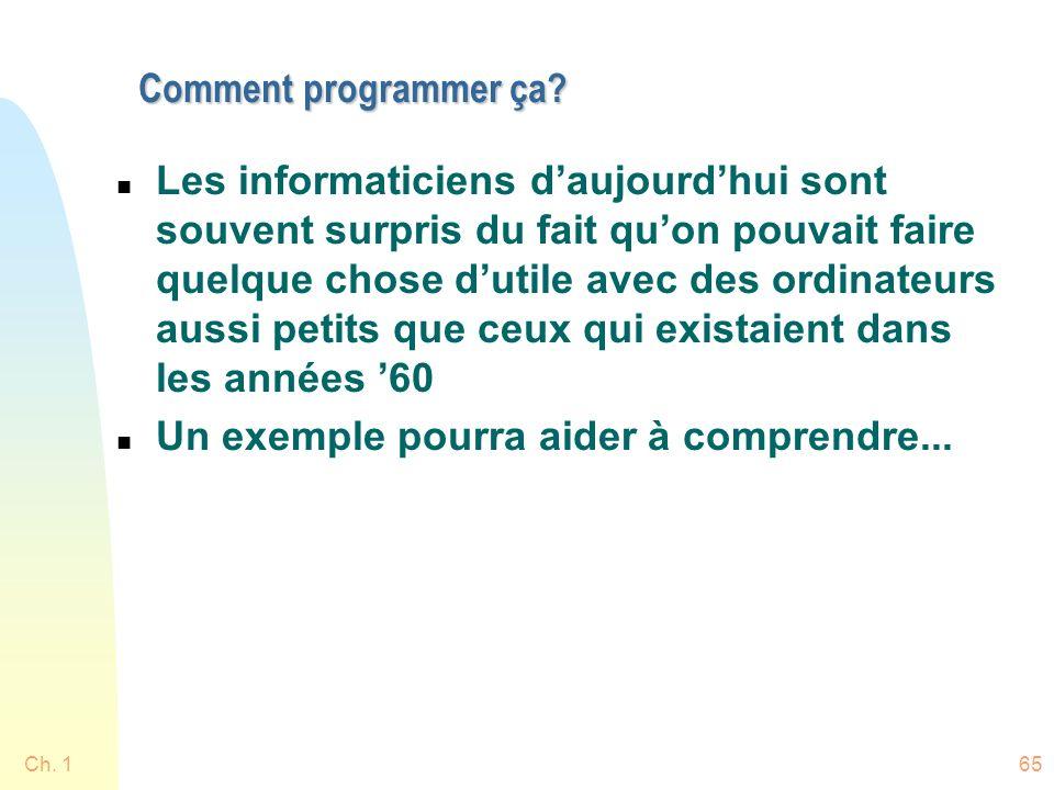 Ch. 165 Comment programmer ça. Comment programmer ça.