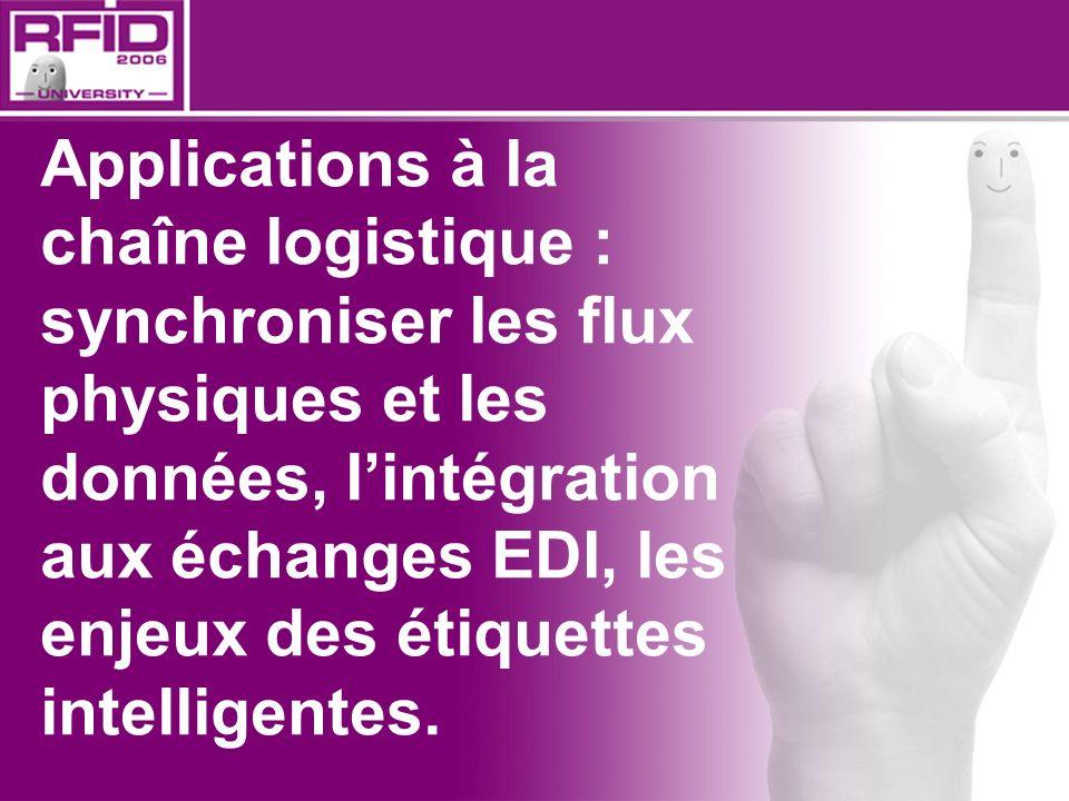 Applications à la chaîne logistique : synchroniser les flux physiques et les données, lintégration aux échanges EDI, les enjeux des étiquettes intelli