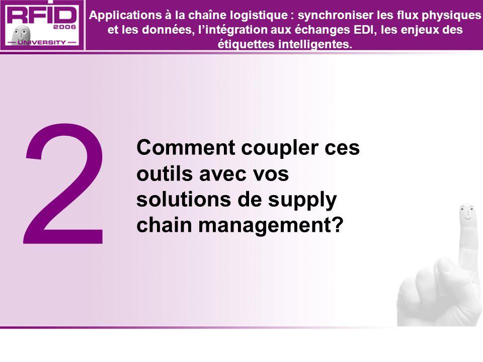 2 Comment coupler ces outils avec vos solutions de supply chain management? Applications à la chaîne logistique : synchroniser les flux physiques et l