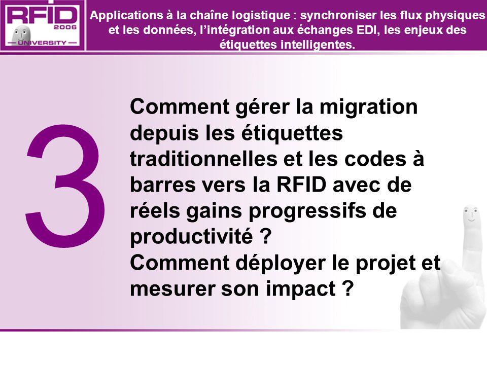 3 Comment gérer la migration depuis les étiquettes traditionnelles et les codes à barres vers la RFID avec de réels gains progressifs de productivité
