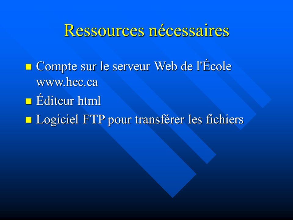 Éditeurs html n Logiciels bureautiques qui permettent de sauvegarder en html (e.g Word, Powerpoint, Excel) n Logiciels de type WYSIWYG (e.g Composer de Netscape ou Frontpage de Microsoft) n Logiciels pour professionnels qui permettent de travailler au niveau des codes (e.g WebExpert)