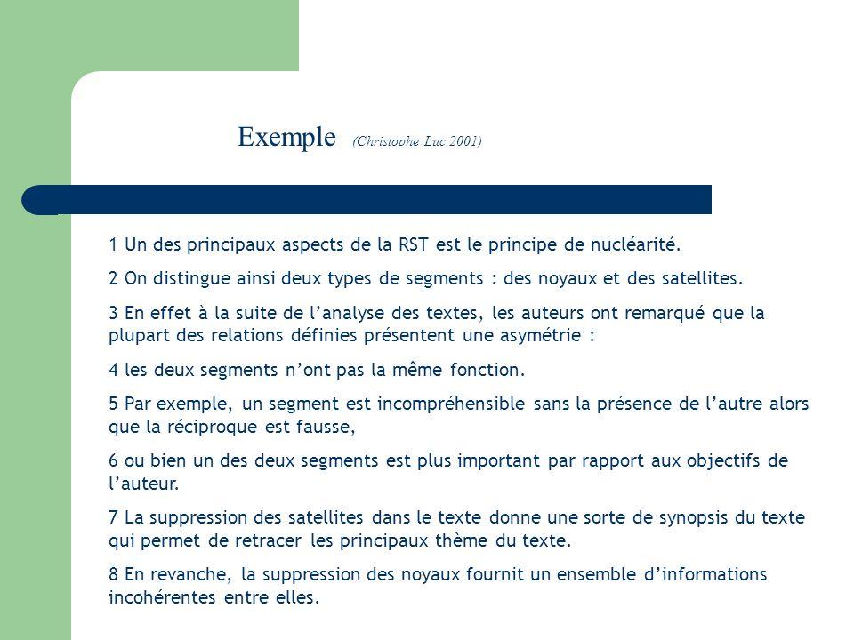 1 Un des principaux aspects de la RST est le principe de nucléarité.