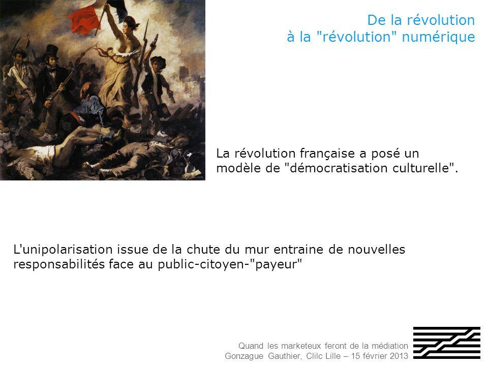 De la révolution à la révolution numérique La révolution française a posé un modèle de démocratisation culturelle .