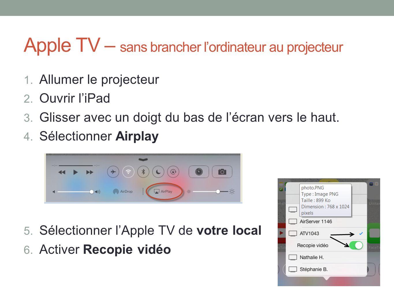 Apple TV – sans brancher lordinateur au projecteur 1.