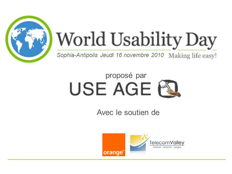 Association déclarée en octobre 2006 à la sous- préfecture de Grasse (Sophia-Antipolis Usability Group)
