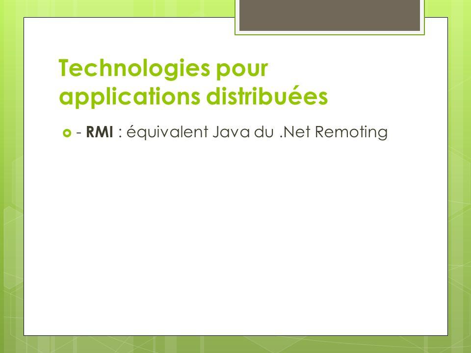 Termes que vous avez peut- être déjà entendu parlé - Services Web : technologie permettant de faire communiquer des composants entre eux, indépendamment de la plateforme sur laquelle ils sont hébergés, en utilisant un protocole de communication et un format de fichier unique et standardisé basé sur du XML.