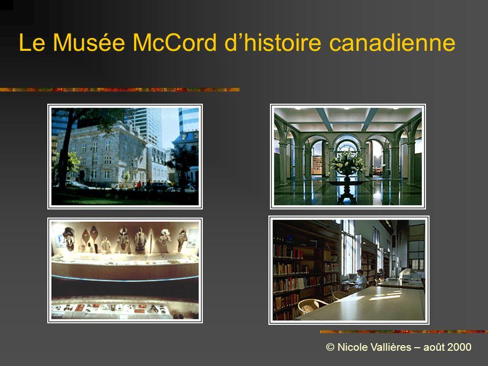 Le Musée McCord dhistoire canadienne © Nicole Vallières – août 2000