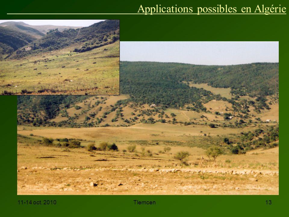 11-14 oct. 2010Tlemcen13 Applications possibles en Algérie
