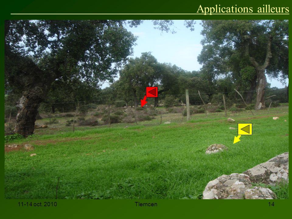 11-14 oct. 2010Tlemcen14 Applications ailleurs